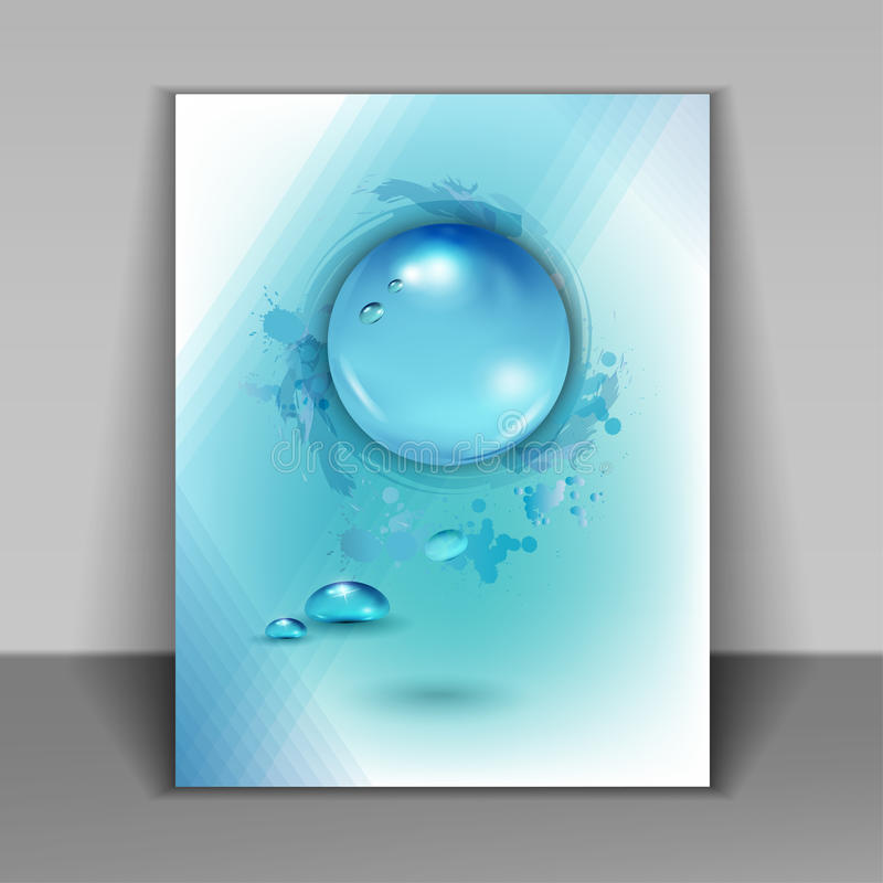 Booklet with drops of pure water royalty free illustration
