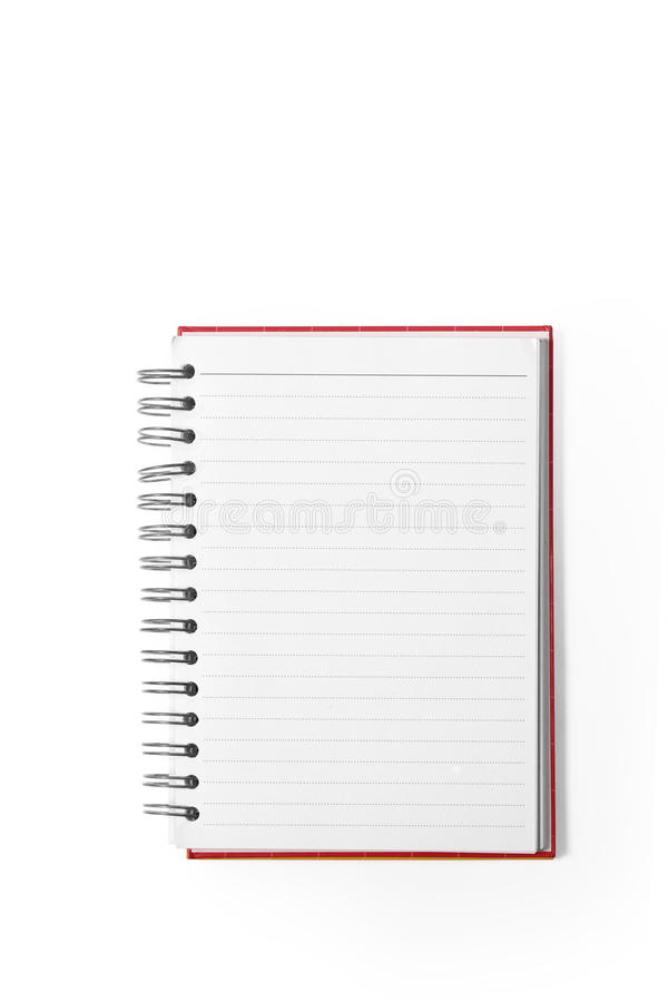 Booklet isolated on white royalty free stock images