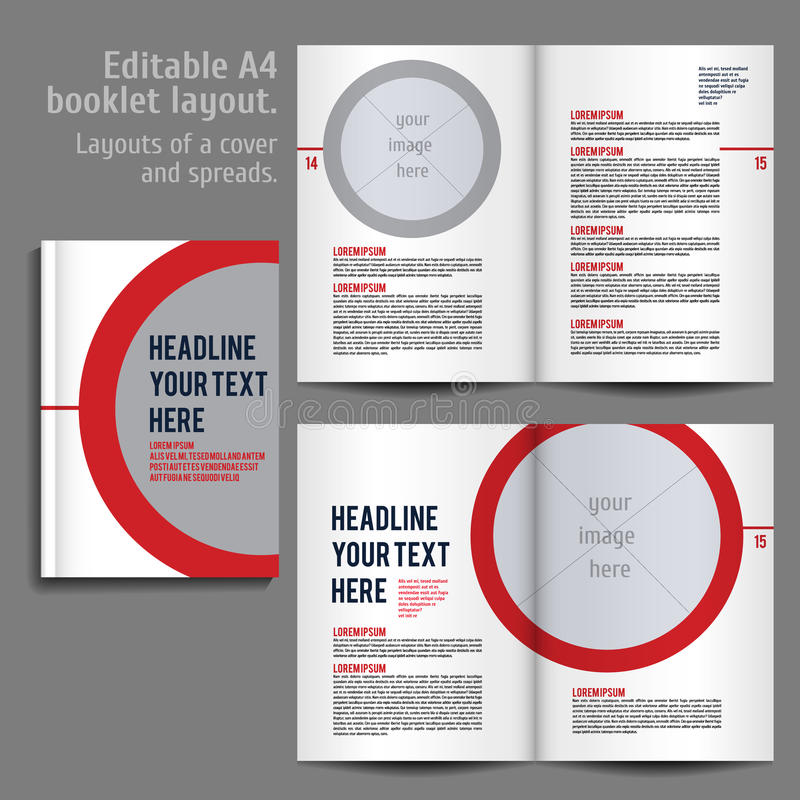 A4 Booklet Layout Design Template With Cover Stock Vector ...