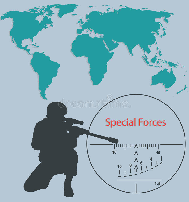 download booklet special forces sniper stock vector illustration of rifle special 89151676