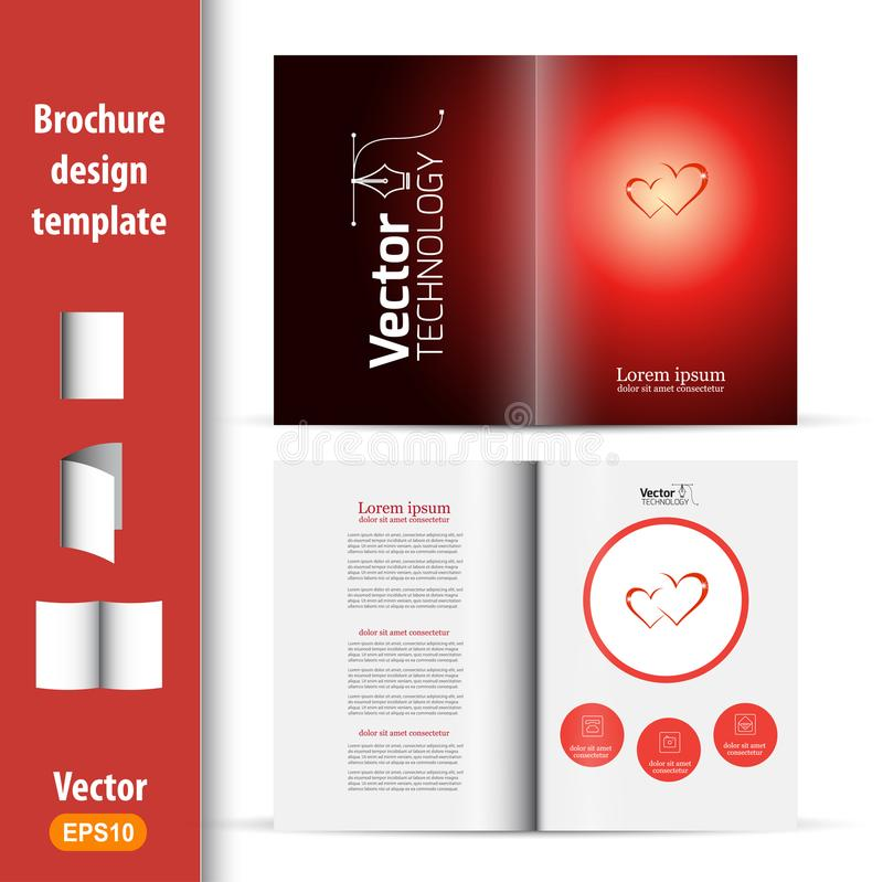 Booklet on the theme of love and marriage. Valentine`s day stock illustration