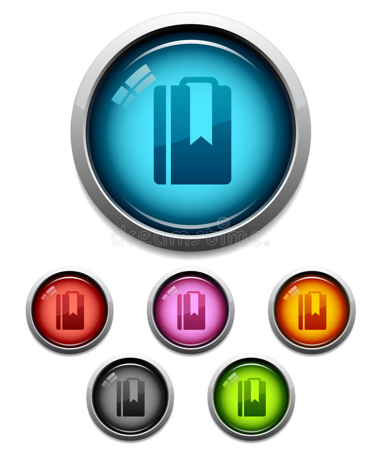 Download Bookmark button icon stock vector. Image of ball, colorful - 21882689