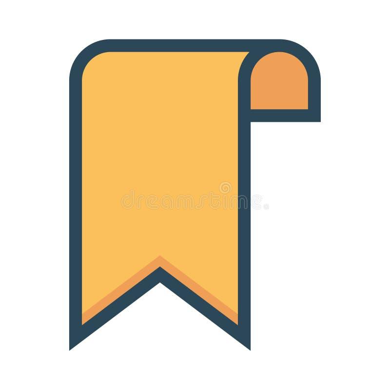 Bookmark color line icon stock illustration