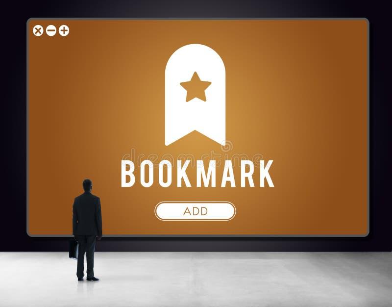 Bookmark Content Web Online Management Concept. Bookmark Content Web Online Management royalty free stock photo