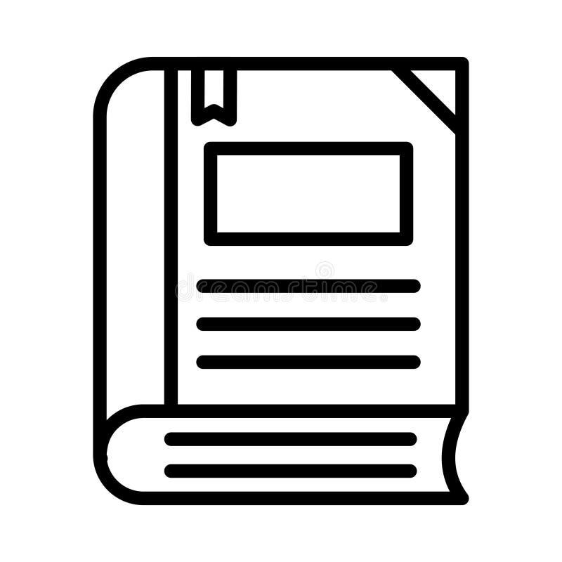 Bookmark-d?nne Linie Vektor-Ikone vektor abbildung