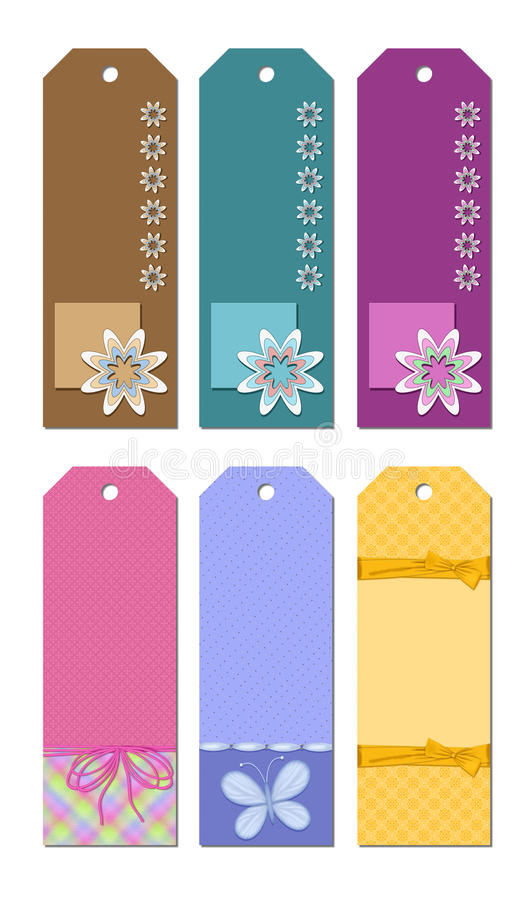 Download Bookmark Designs stock illustration. Illustration of butterfly - 19243386