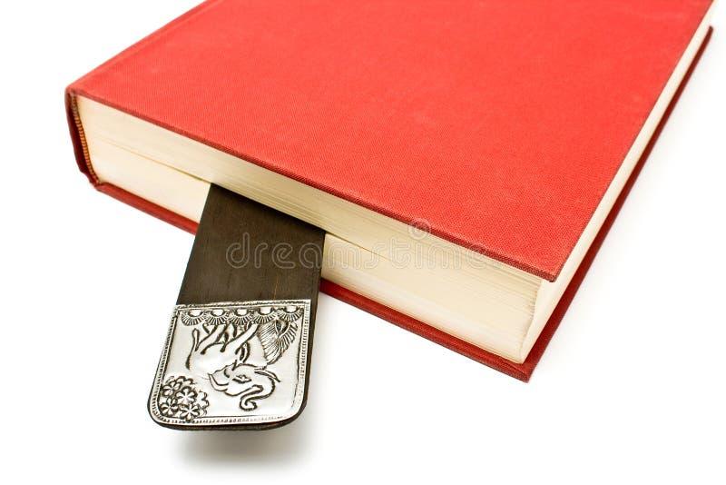 Bookmark in einem Buch stockfotos