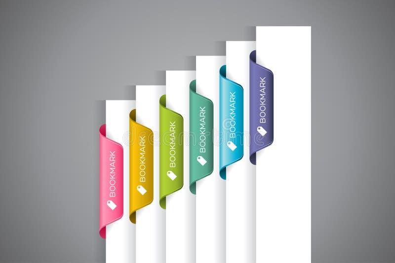 Bookmark etykietki zdjęcia royalty free