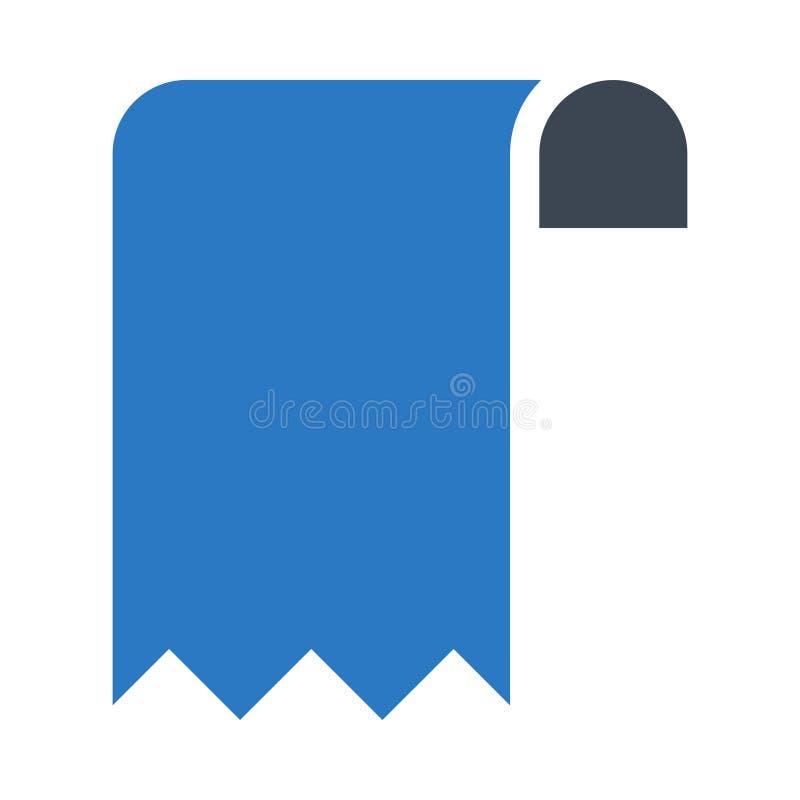 Bookmark glifów kopii koloru ikona royalty ilustracja
