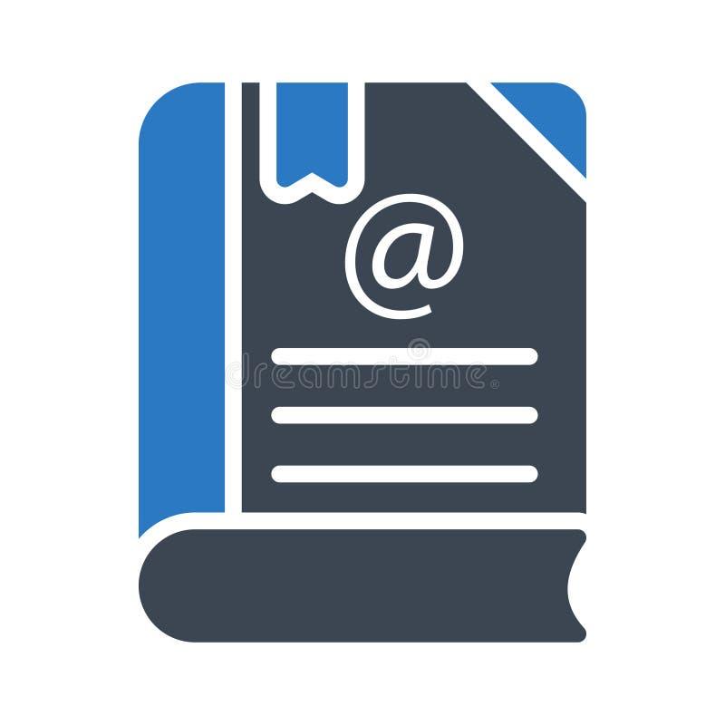 Bookmark Glyph-Farblinie Vektorikone lizenzfreie abbildung
