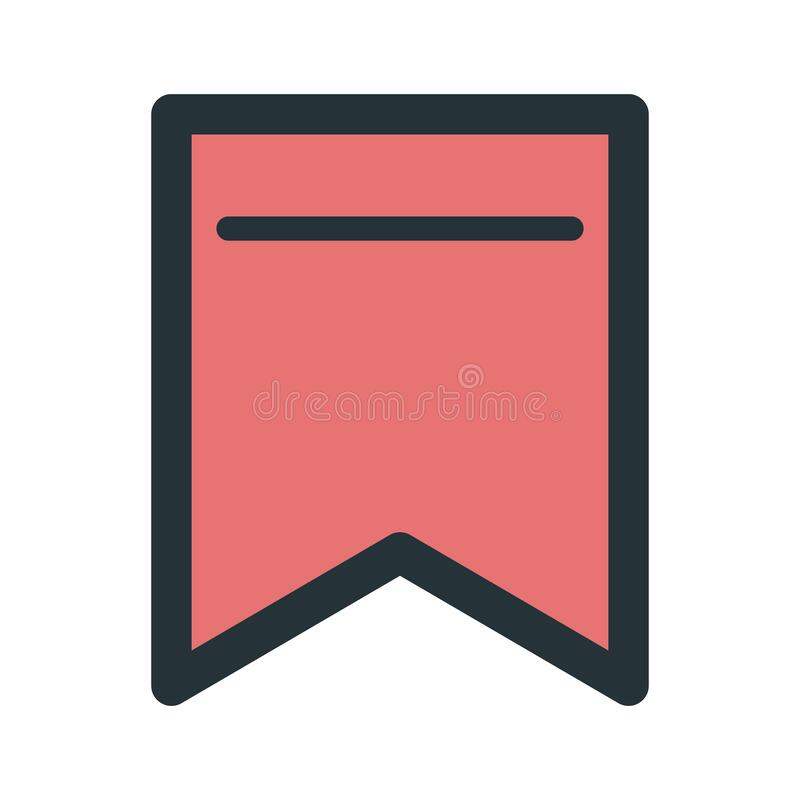 Free Bookmark Icon. Vector Illustration Decorative Design Stock Image - 188170191