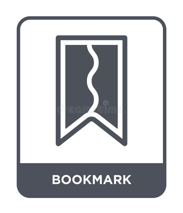 bookmark ikona w modnym projekta stylu Bookmark ikona odizolowywająca na białym tle bookmark wektorowej ikony prosty i nowożytny  ilustracji