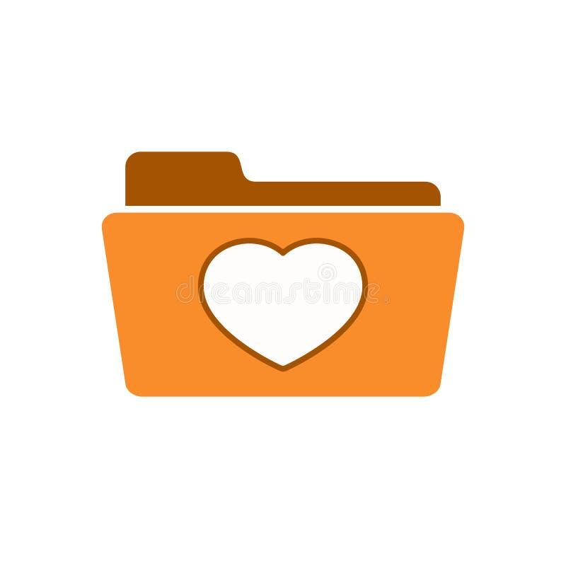 Bookmark il cuore favorito della cartella dei favoriti dei segnalibri come l'icona illustrazione di stock