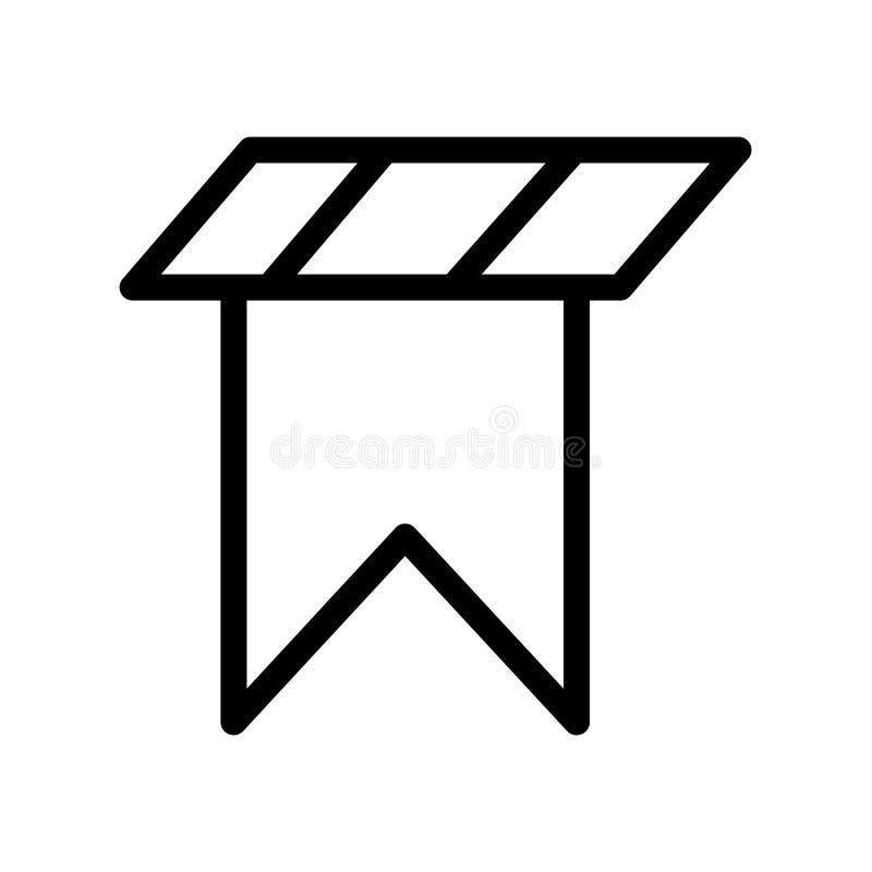 Bookmark il segno ed il simbolo di vettore dell'icona isolati su backgroun bianco illustrazione vettoriale