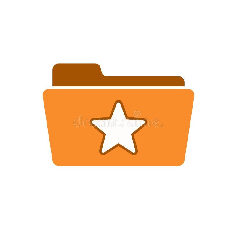 Bookmark la cartella favorita come l'icona della stella del segno di amore illustrazione vettoriale