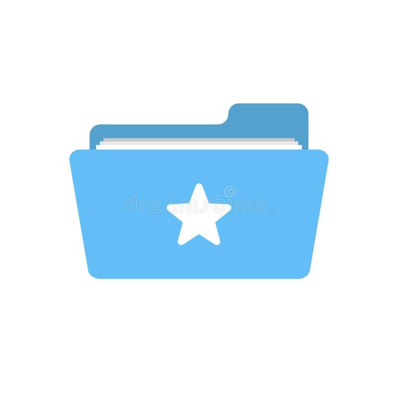 Bookmark la cartella favorita come l'icona della stella del segno di amore royalty illustrazione gratis