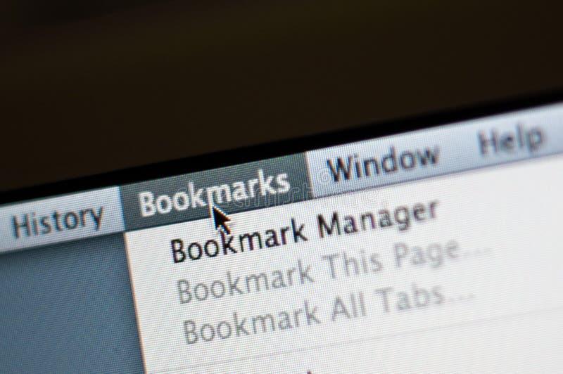 Bookmark menu stock photos