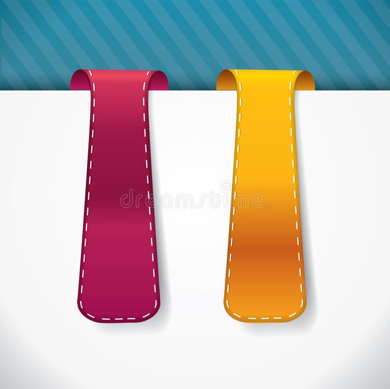 Download Bookmark Vertical Stylowe Etykietki Z ściegami Ilustracja Wektor - Ilustracja złożonej z nowożytny, cena: 28968806