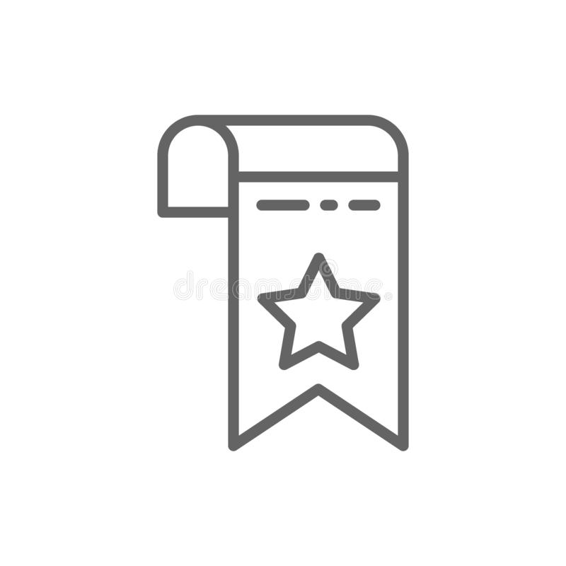 Bookmark, Webseitenmarkierungslinie Ikone Getrennt auf wei?em Hintergrund stock abbildung