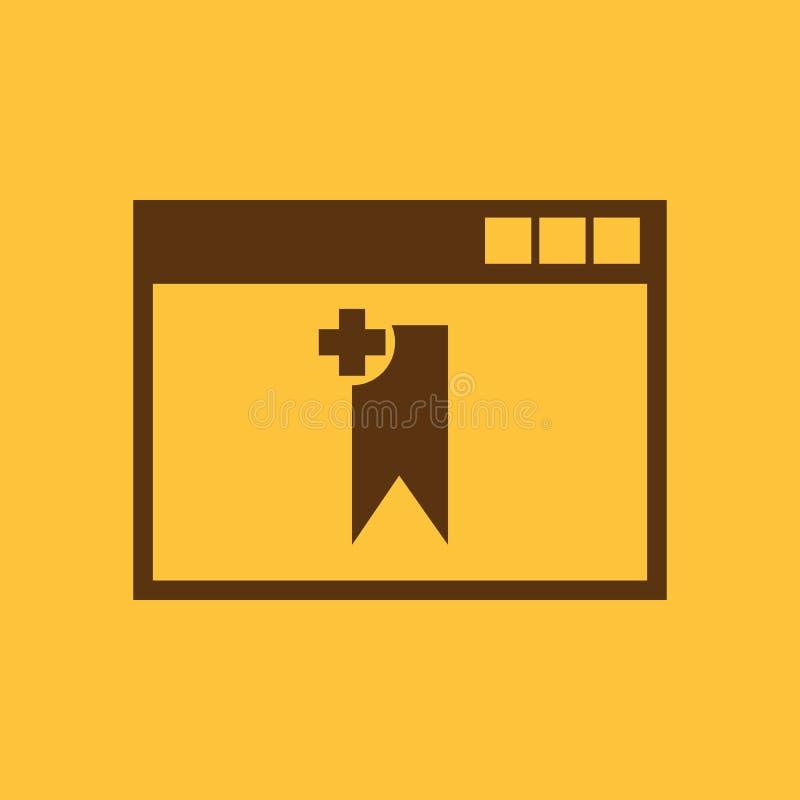 Bookmarkbrowserikone ENV 10 Bookmarkbrowsersymbol web graphik jpg ai app zeichen nachricht flach bild lizenzfreie abbildung