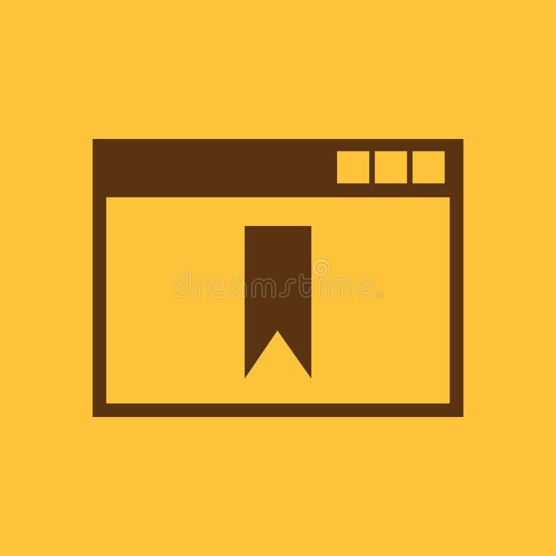 Bookmarkbrowserikone ENV 10 Bookmarkbrowsersymbol web graphik jpg ai app zeichen nachricht flach bild stock abbildung