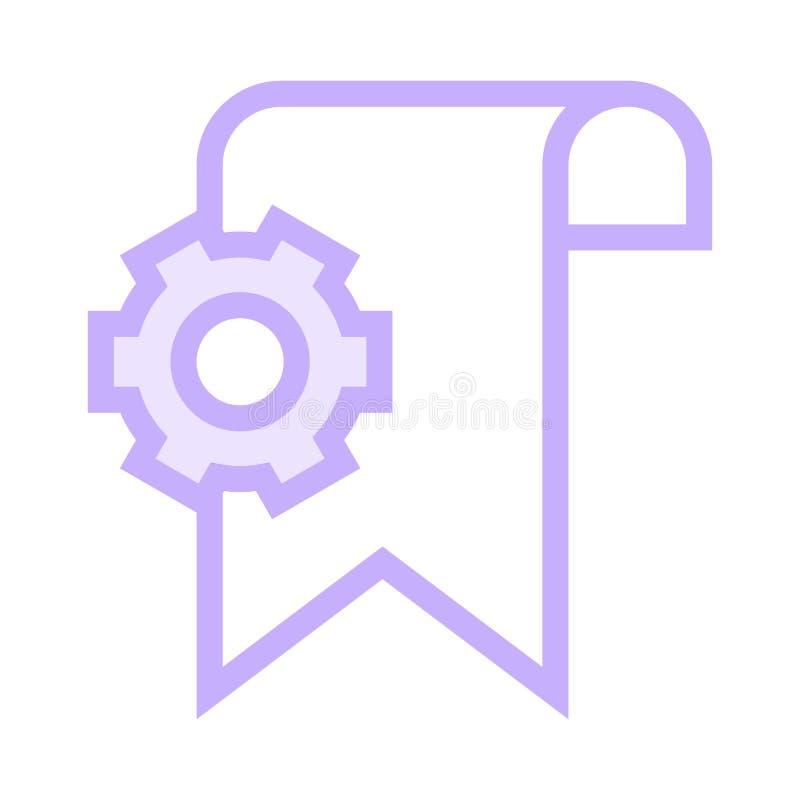 Bookmarkeinstellungs-Farblinieikone vektor abbildung