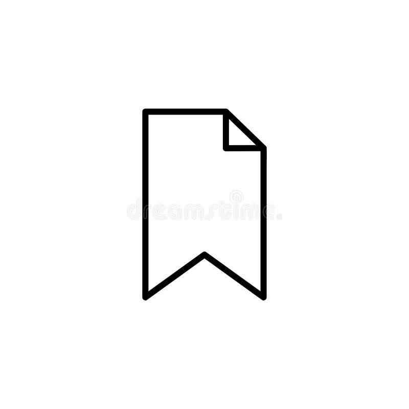 Bookmarkentwurfsikone lizenzfreie abbildung