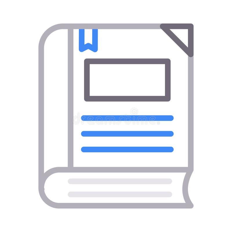 Bookmarkfarblinie Vektorikone vektor abbildung