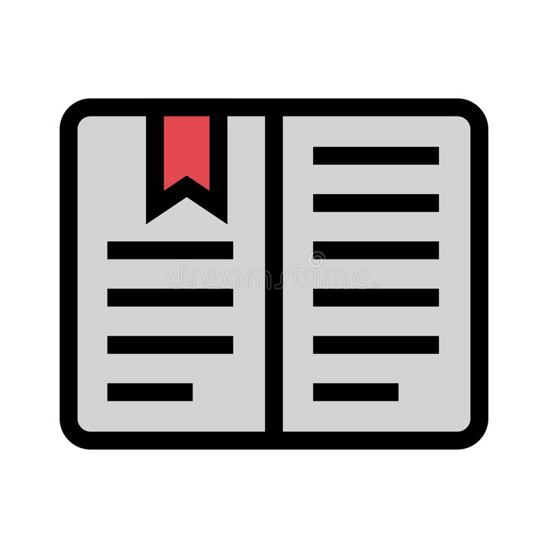 Bookmarkfarblinieikone stock abbildung