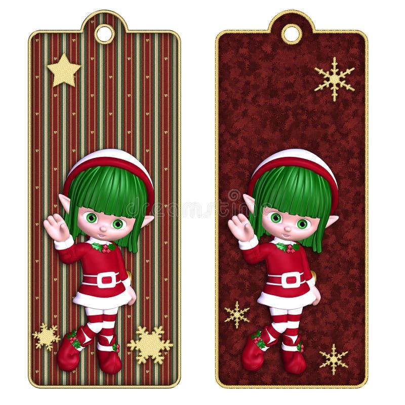 bookmarks снежинки эльфа рождества бесплатная иллюстрация