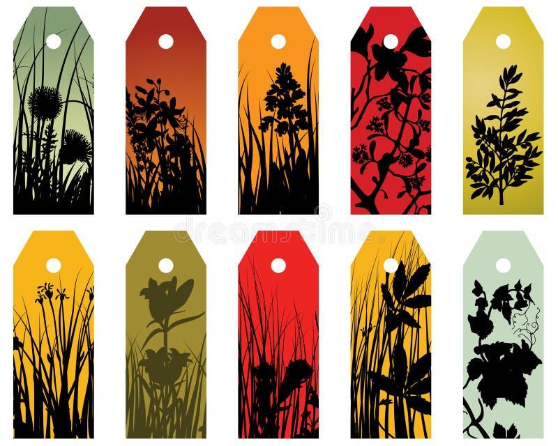 bookmarks флористическое иллюстрация вектора