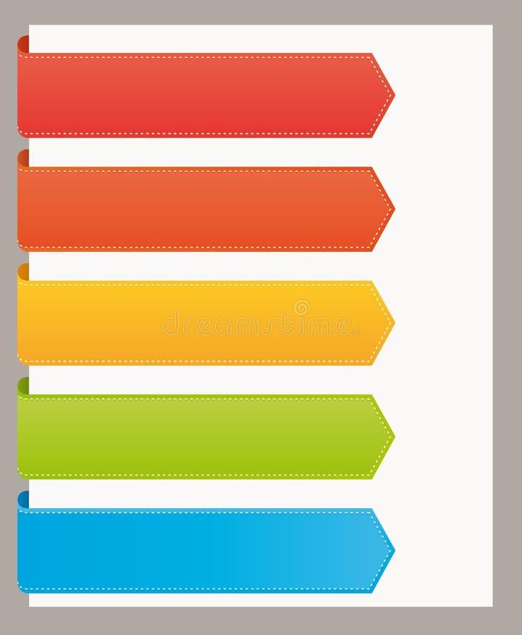 bookmarks цветастый большой вебсайт тесемок иллюстрация вектора