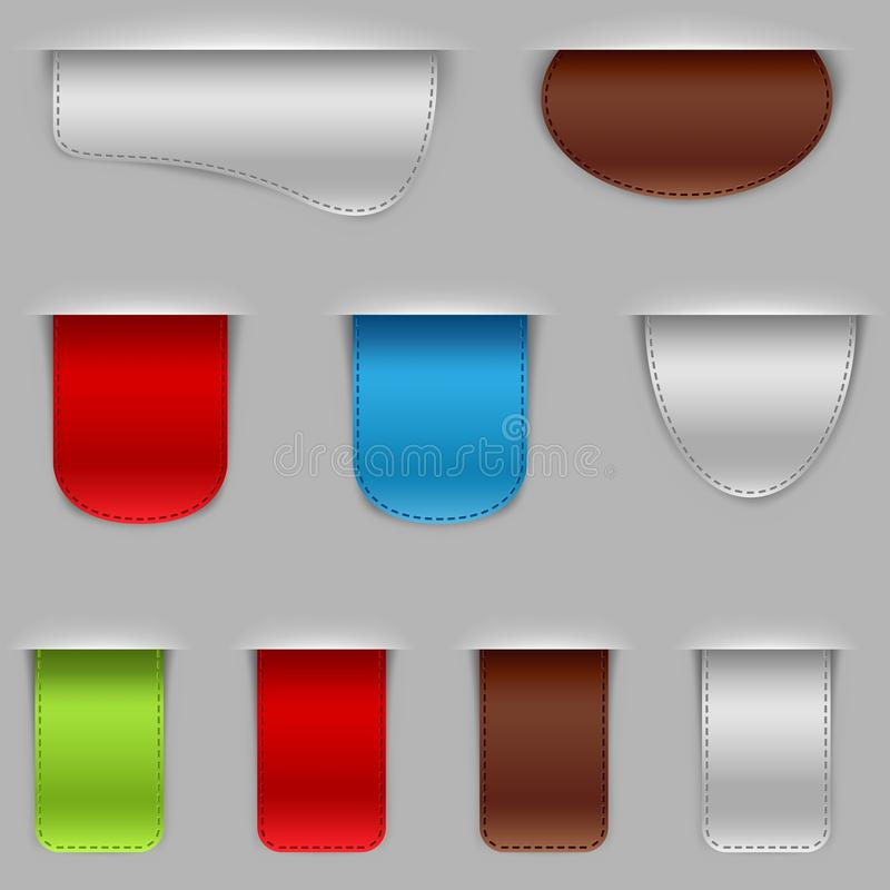 Download Bookmarks stock vector. Image of icon, background, label - 20862960