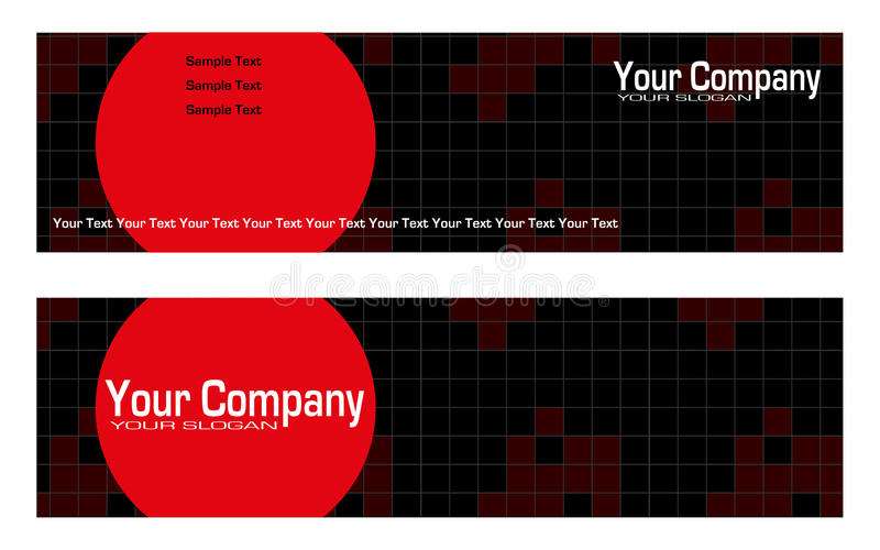 Bookmarks advertising stock illustration