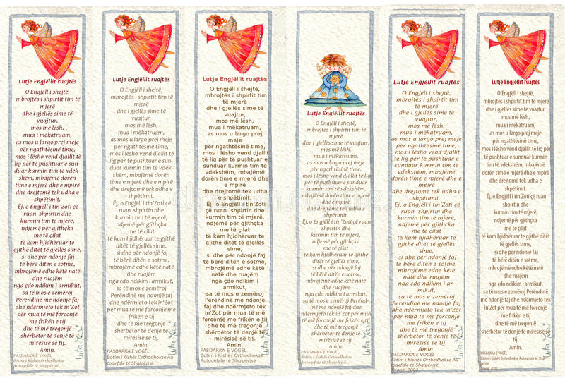 Bookmarks with Angels, Watercolor illustration,. Watercolor bookmarks with Angels end praying angel , Watercolor illustration royalty free stock image