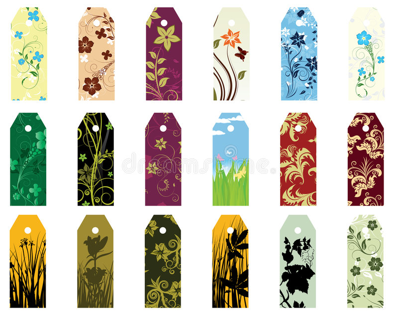 Download Bookmarks set stock vector. Illustration of collection - 8036892
