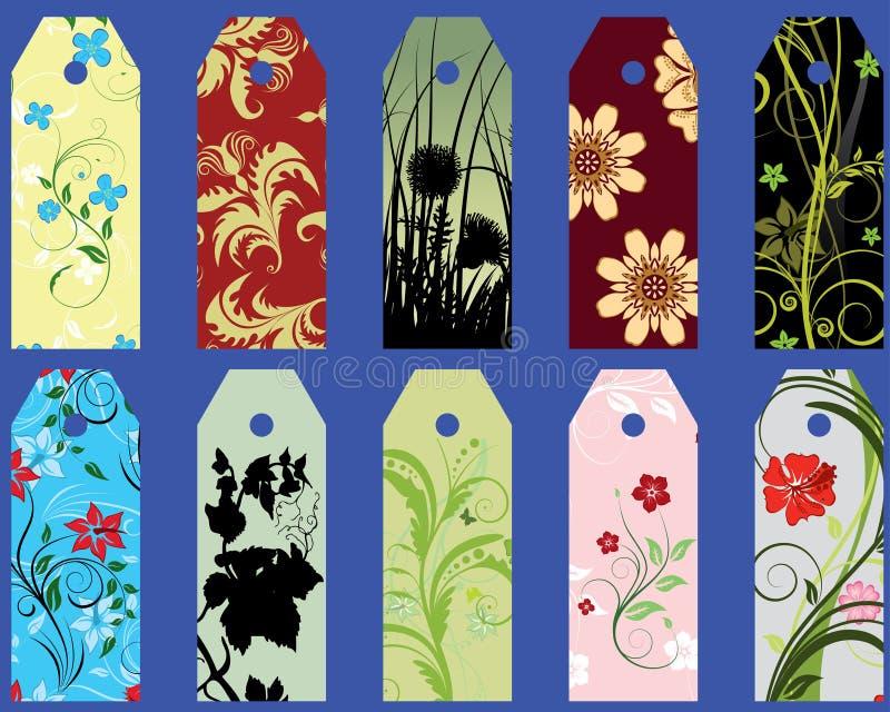 bookmarks ustawiający ilustracja wektor