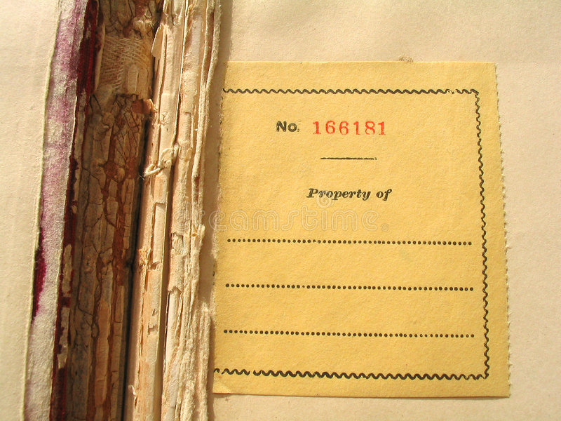 bookplate стоковое фото rf