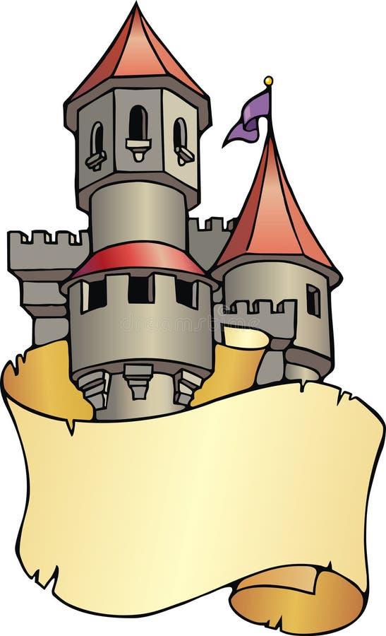 bookplate kasztel royalty ilustracja