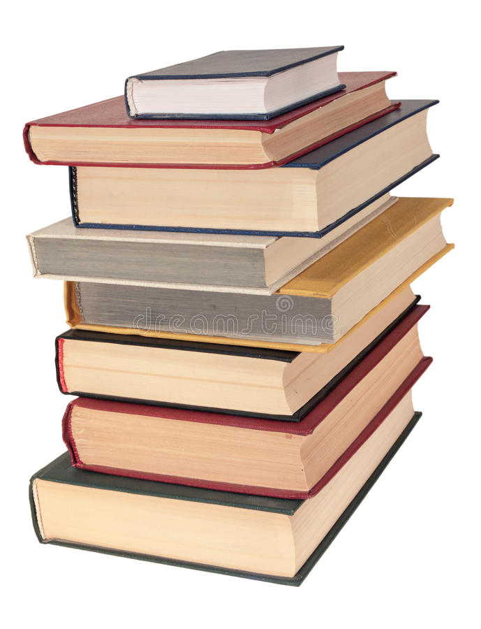 Books. Pile of books, isolated on a white background stock photography
