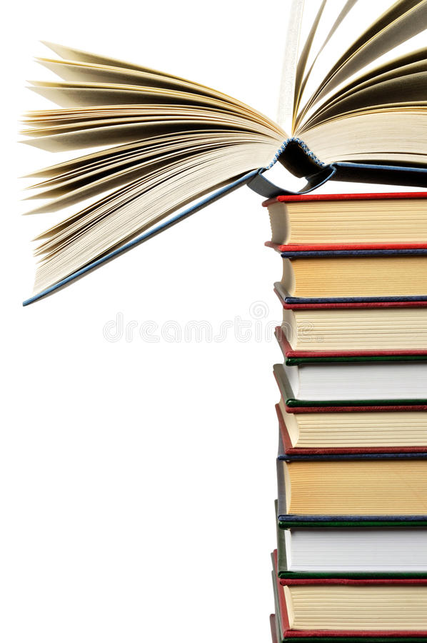 Download Books stock photo. Image of high, pile, isolated, science - 15897704
