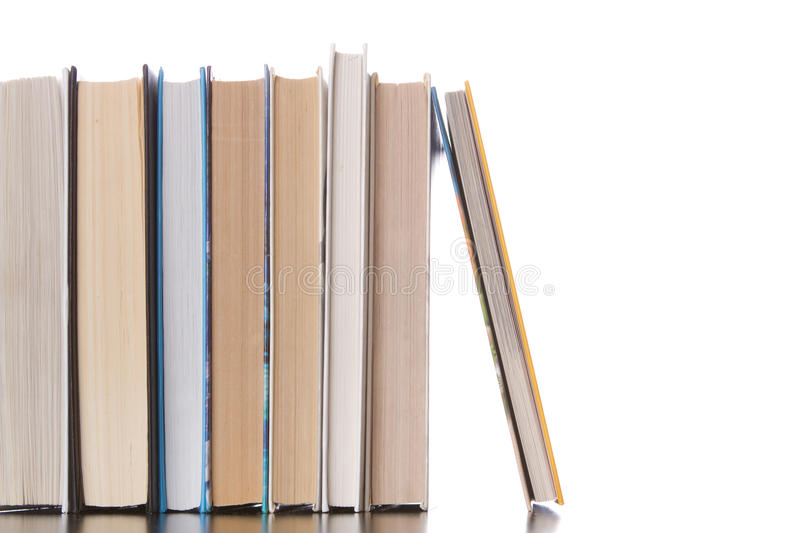 Books. Isolated on white background royalty free stock photography