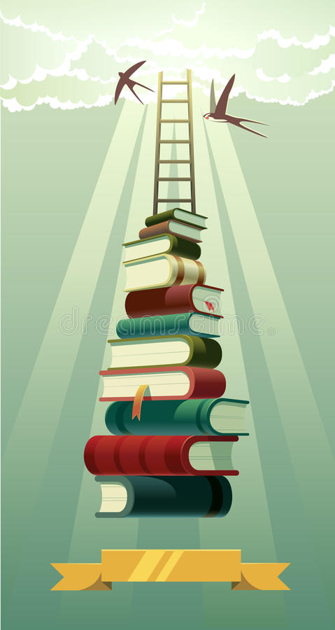 Books. royalty free illustration