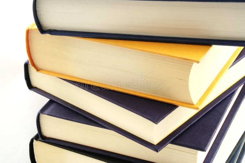 Books. Stack of books against a white background royalty free stock photography