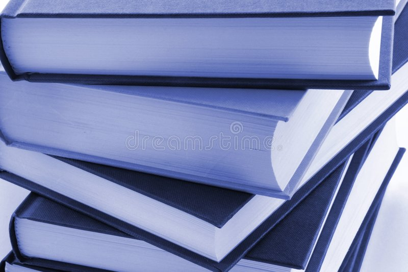Books. Stack of books against a white background royalty free stock image