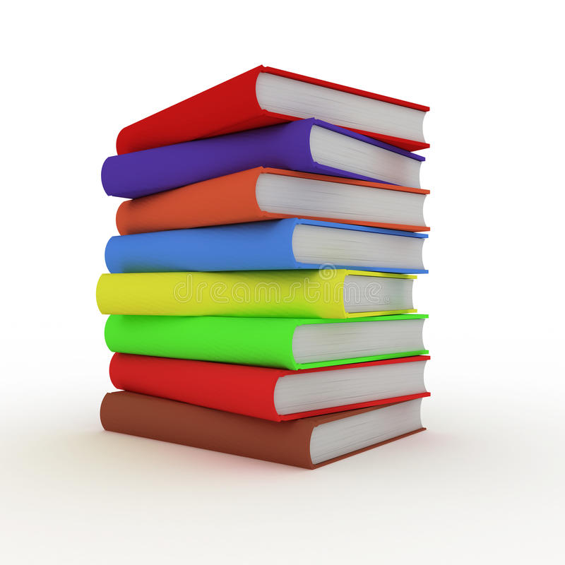 Books 3D royalty free stock photo