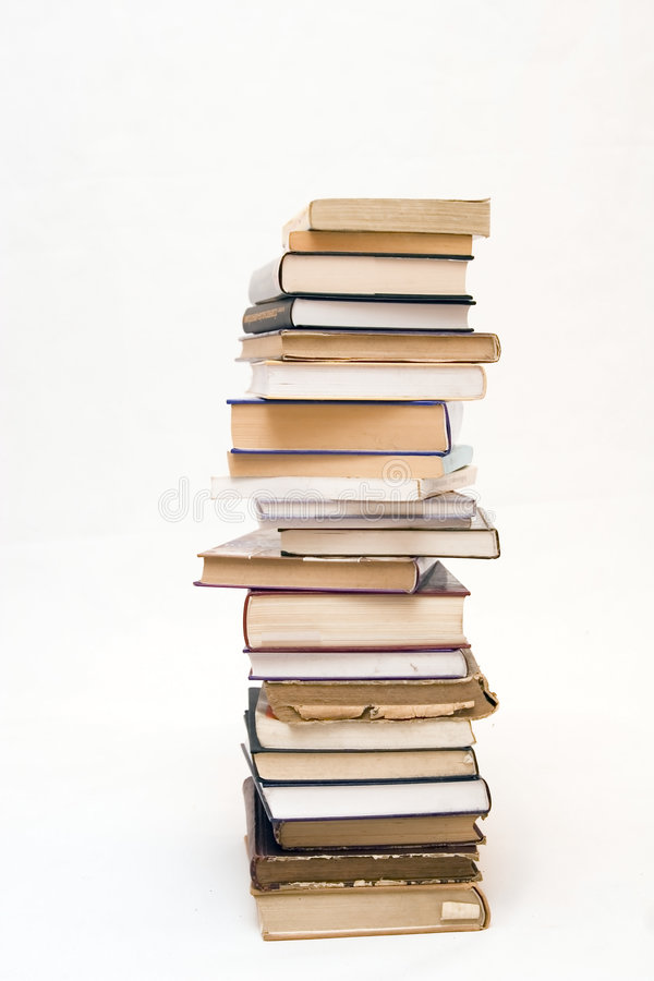 Books. On a white isolated background stock image