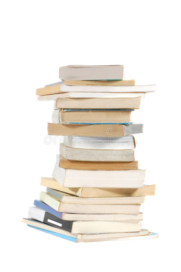 Books. Stack of books isolated on a white background stock photo