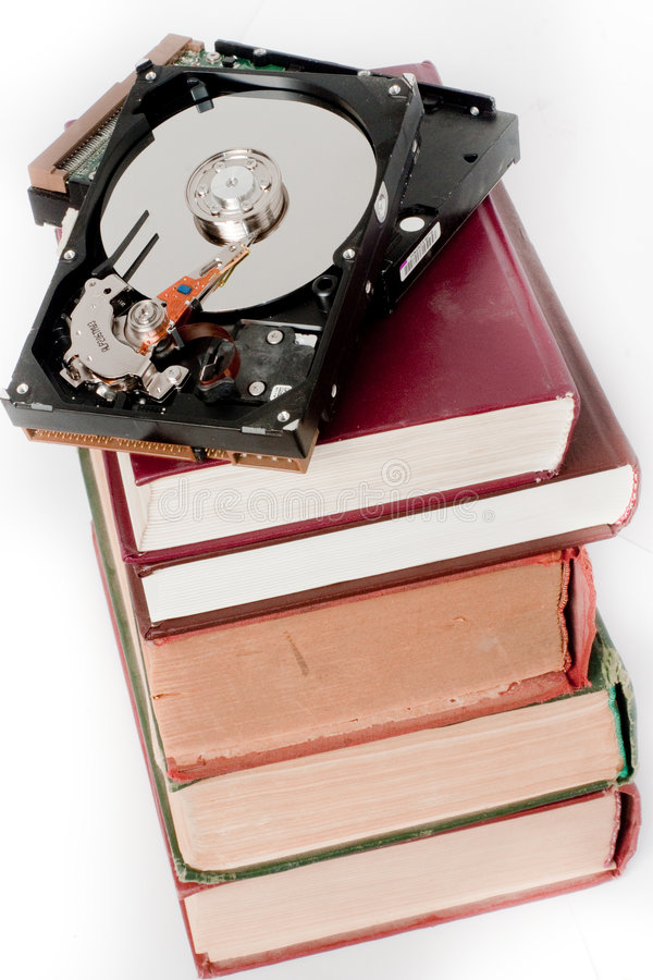 Free Books And Hard Disk Royalty Free Stock Photography - 6179627