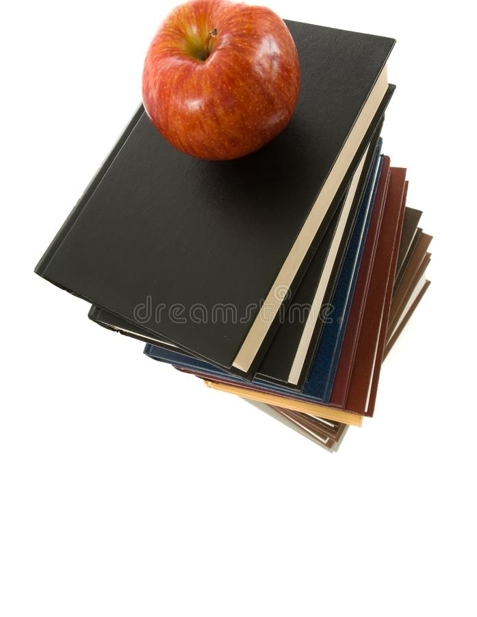 Books And Apple Free Stock Photography